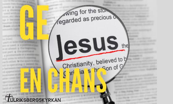 Ge Jesus en chans - samtalskvällar online via Zoom